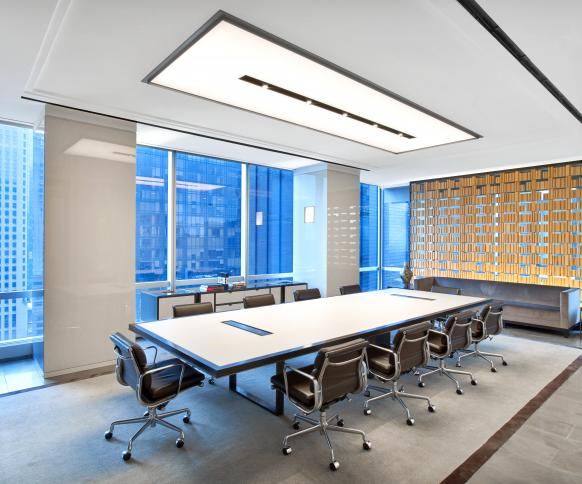 Highline Conference Table And Credenza