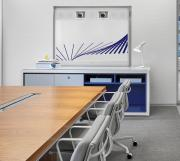 Highline Conference table with Highline Fifty Credenza