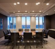 Highline Fifty Conference Table with Highline Twenty-Five Credenza