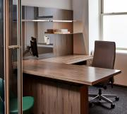 Custom Executive Office with Peninsula Desk