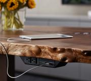 Live edge table with undermount technology